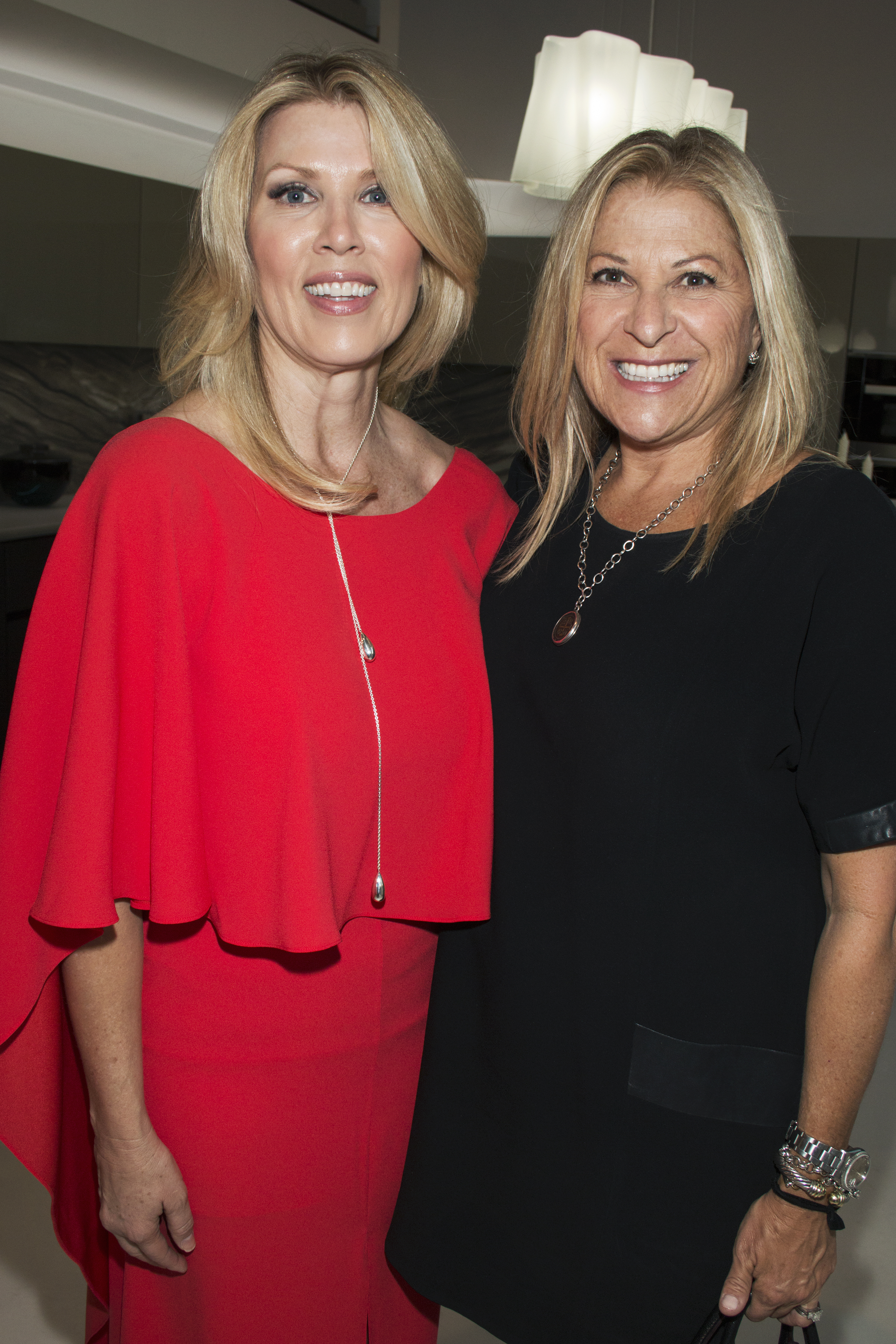 Snaidero USA Showroom Manager Wendy Williams With Ruth Tooker Of Architectural  Digest