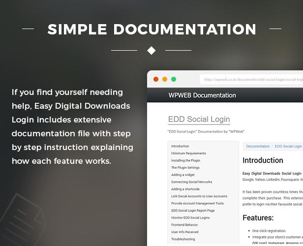 Simple documentation