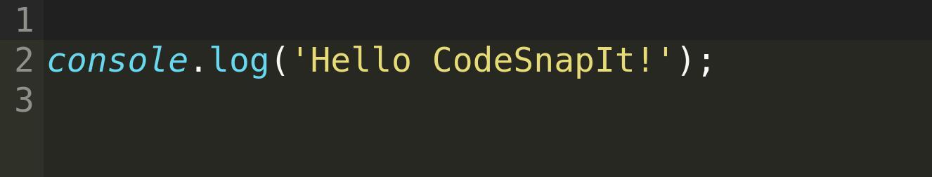 Hello CodeSnapIt!