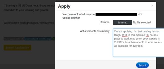 Not-applying