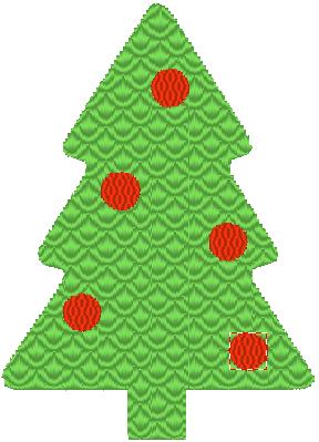 Fichier à broder - Sapin de Noel gratuit