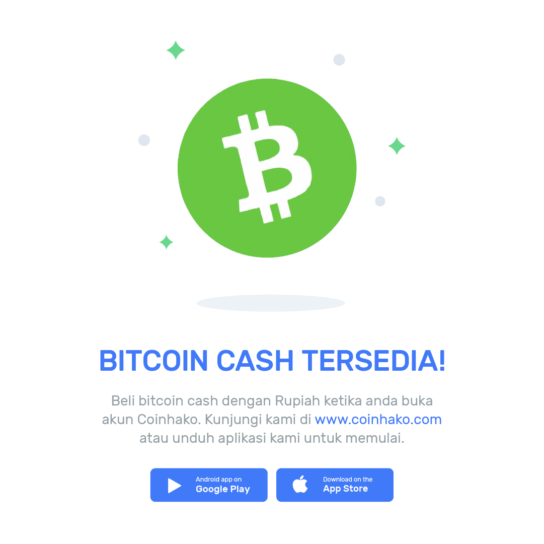 Buy Bitcoin Cash Bch With The Indonesian Rupiah Today