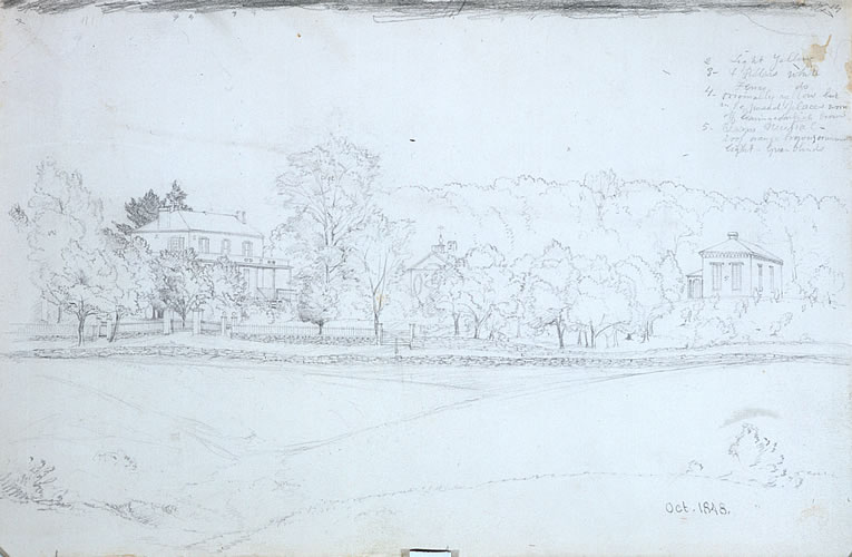 View of Cedar Grove (Thomas Cole's House and Studio), Catskill, NY
