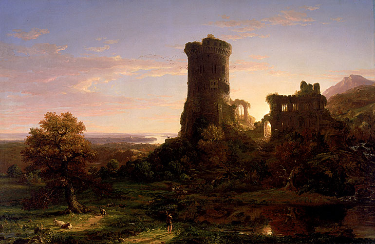Landscape with Tower in Ruin