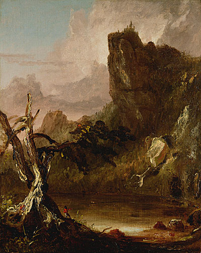 Imaginary Landscape with Towering Outcrop