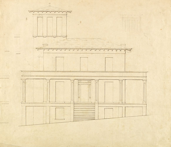 Front Elevation of Proposed Villa at Catskill