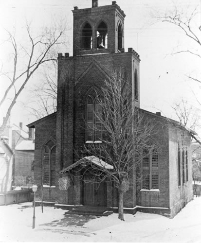 Second edifice of St. Luke's Episcopal Church, designed by Thomas Cole