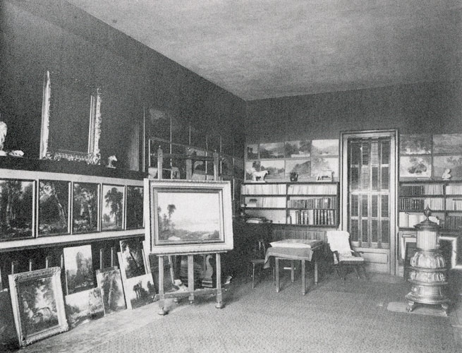Interior of Durand's Studio at Maplewood, New Jersey