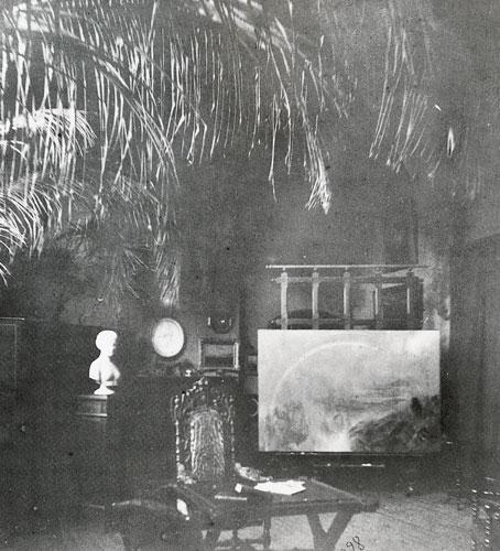 Interior View of Frederic E. Church's New York Studio