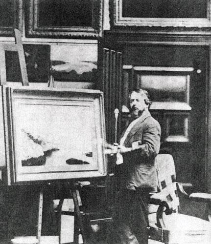 Kensett in His Waverly House Studio