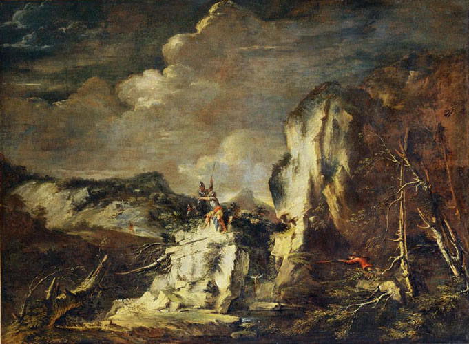 Rocky Landscape with a Hunter (<em>Paysage rocheux avec un chasseur</em>)