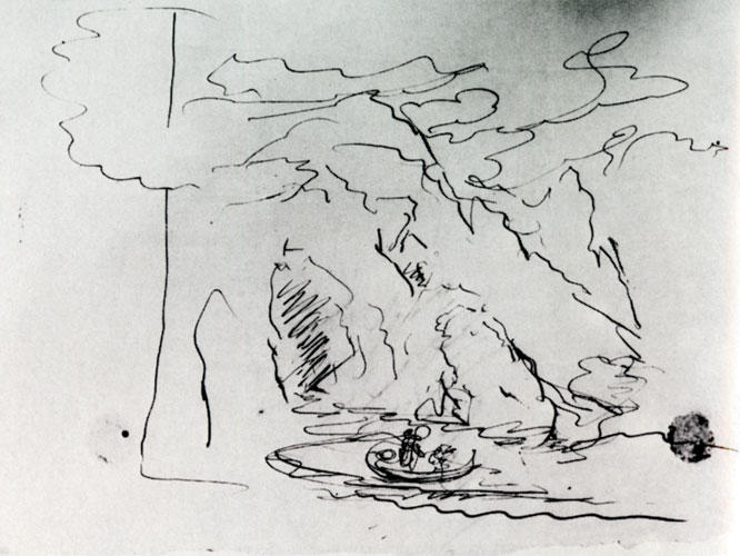 Preliminary Sketch for The Voyage of Life: Childhood