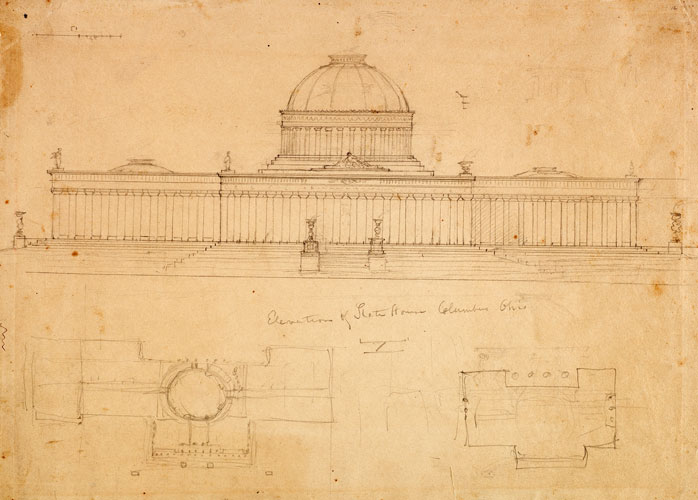 Elevation of State House, Columbus, Ohio