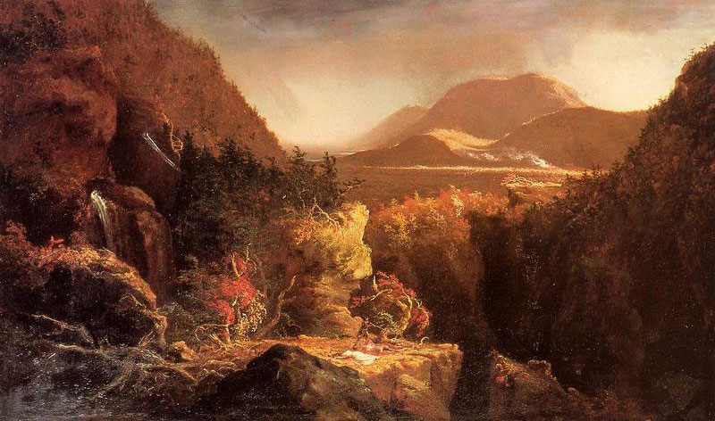 Landscape with Figures: Scene from Last of the Mohicans