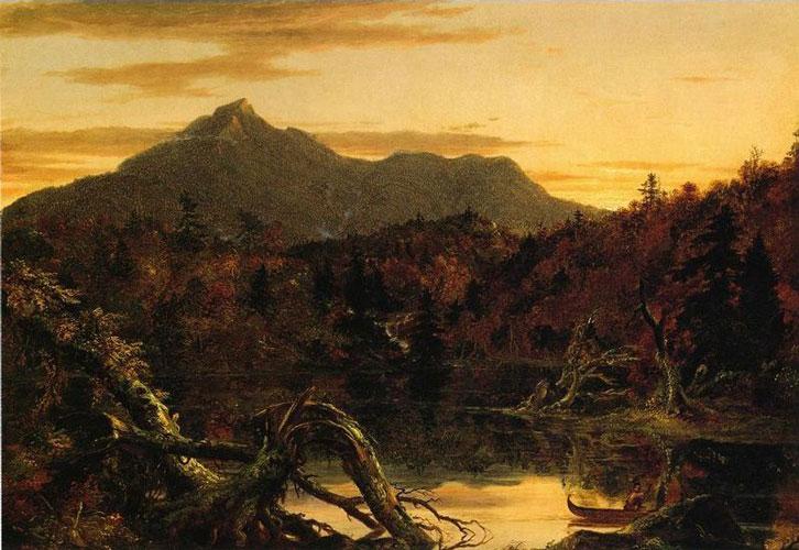 Autumn Twilight, View of Conway Peak (Mount Chocorua), New Hampshire