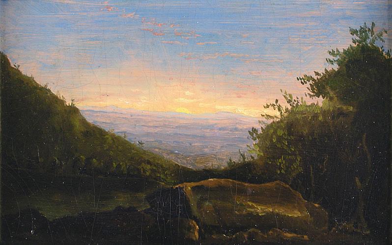 Landscape, Sunrise in the Clove