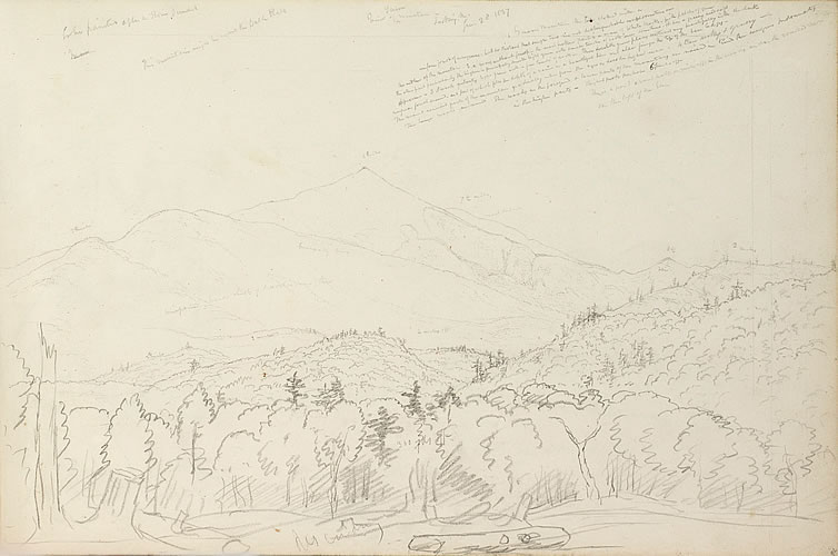View of Schroon Mountain Looking North, June 28, 1837