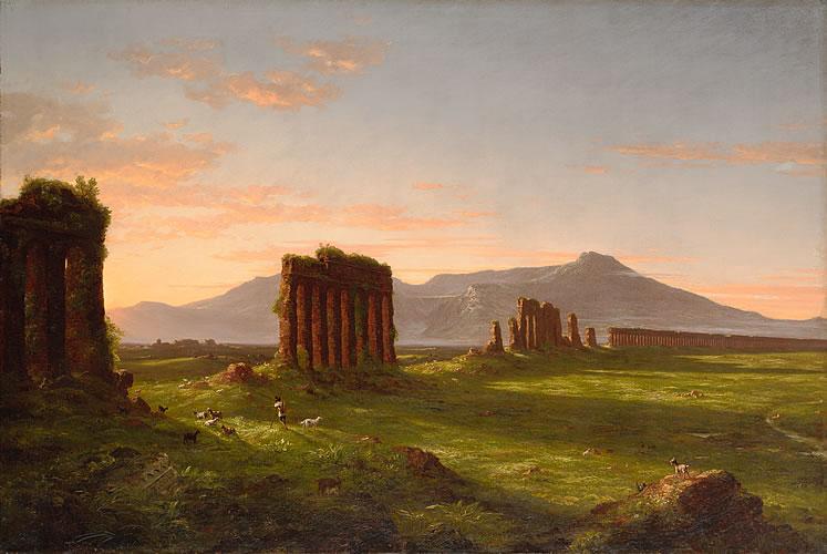 Roman Campagna (Ruins of Aqueducts in the Campagna Di Roma)