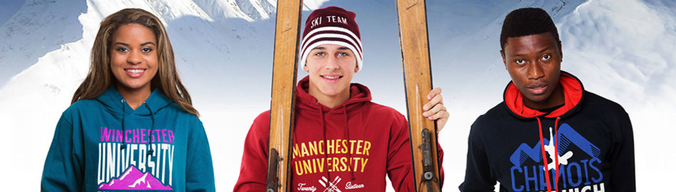 Ski trip hoodies printed uni school 1
