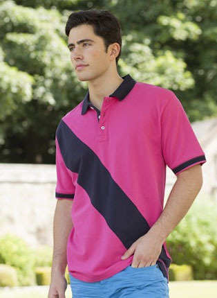 Diagonal stripe rugby shirt