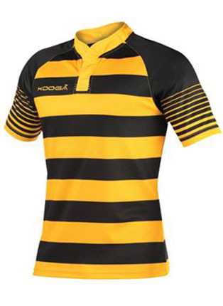 Junior touchline hooped match shirt
