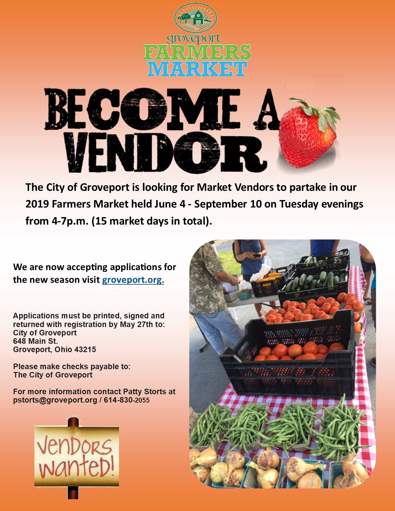 At Wednesday Farmers Market I Signed >> Regroup Groveport Community Affairs Farmers Market Vendor