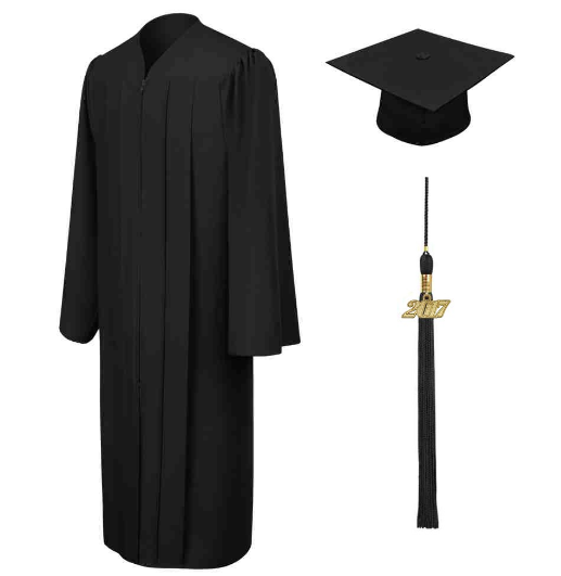 Grad cap and gown
