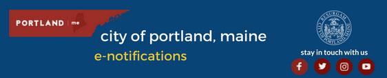 City of Portland e-notifications