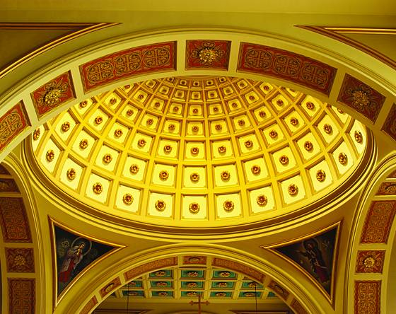 Franciscan monastery dome interior