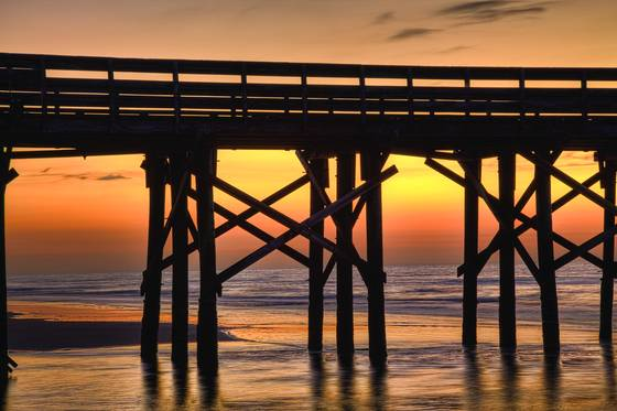 Pier at sunrise