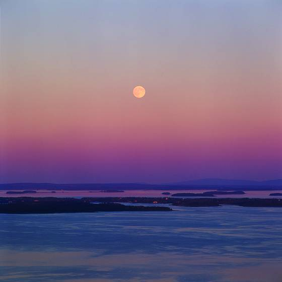 Moonrise penobscot bay
