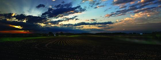 Pepin sunrise panorama