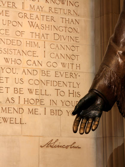 Abraham lincoln at national cathedral