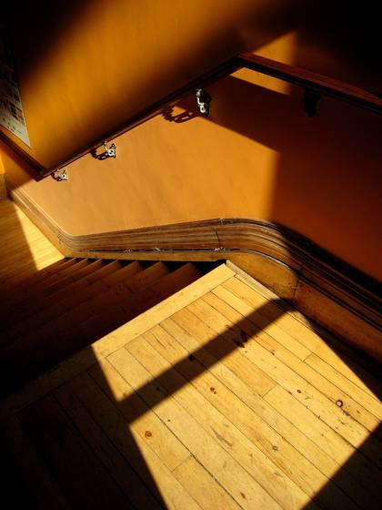 Golden stairwell