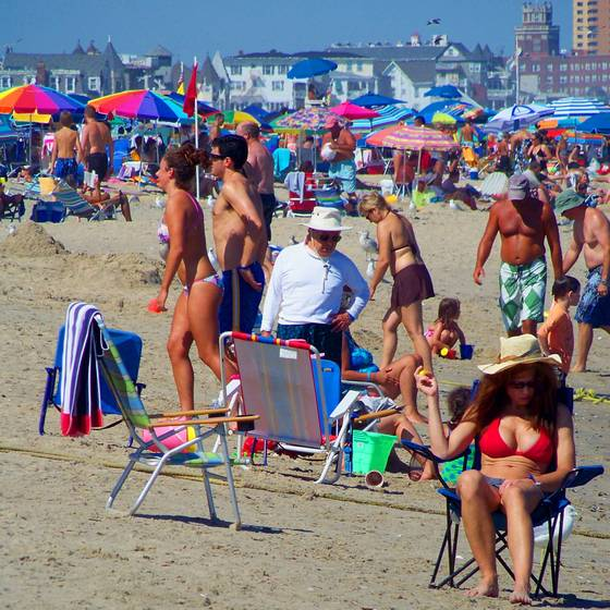 Sunday afternoon at the jersey shore