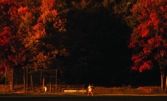 Baseball in autumn