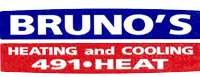 Website for Bruno's Heating & Cooling Inc