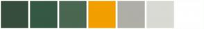 Color Scheme with #374D3C #355842 #4A6751 #F29F01 #AFAFA8 #DADAD4 #FFFFFF
