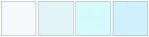 Color Scheme with #F5F9FB #E3F4F7 #D5FBFD #D0F1FD