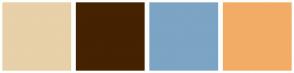 Color Scheme with #E8D0A9 #452200 #7CA4C4 #F2AC66