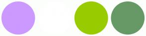 Color Scheme with #CC99FF #FFFFFF #99CC00 #669966