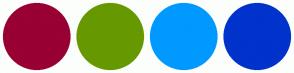 Color Scheme with #990033 #669900 #0099FF #0033CC