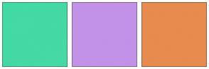 Color Scheme with #44D9A5 #C192E8 #E78B4F