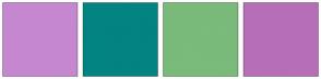 Color Scheme with #C687D1 #028482 #7ABA7A #B76EB8