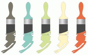 Color Scheme with #7C786A #8DCDC1 #D3E397 #FFF5C3 #EB6E44