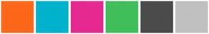 Color Scheme with #FC6719 #239BD3 #DF1D6D #40BE7B #4B4B4B #C0C0C0