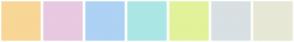 Color Scheme with #F8D696 #E7C9E1 #ADD2F4 #ABE7E4 #E2F29A #D8E0E3 #E7E8D5