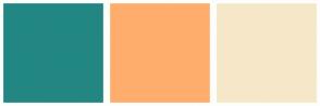 Color Scheme with #228783 #FFAD6D #F7E7C9