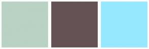 Color Scheme with #B9D2C3 #655254 #96E8FF