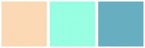Color Scheme with #FBD9B4 #97FFE2 #67AEC1